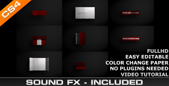 After Effects Project - VideoHive Logo Intro Paper 1599519