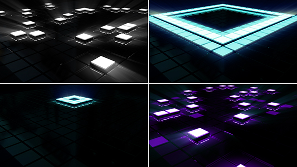 Neon Beat Floor V2 - Pack 1 - Light Taustat Motion Graphics