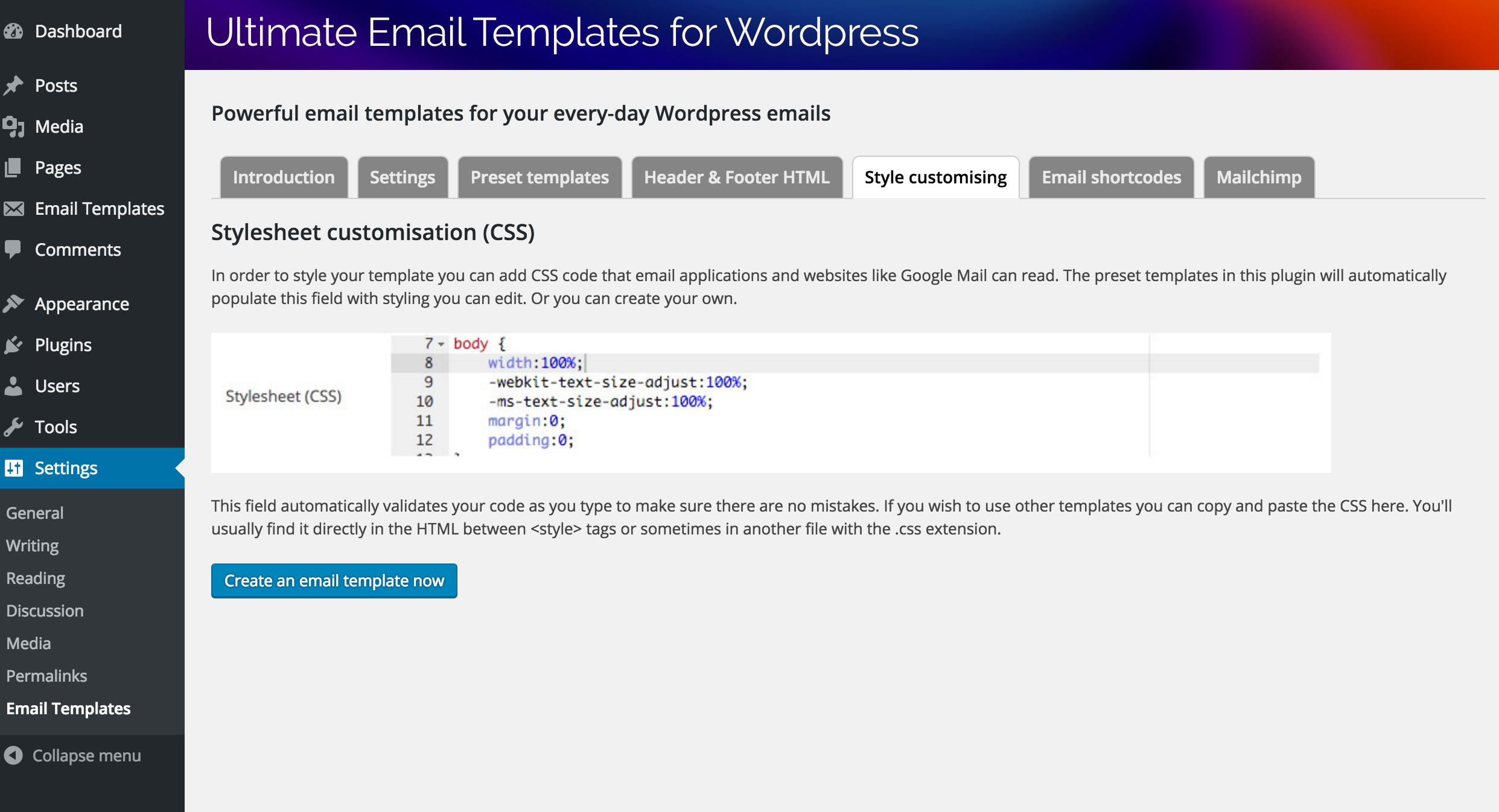 email templates html code