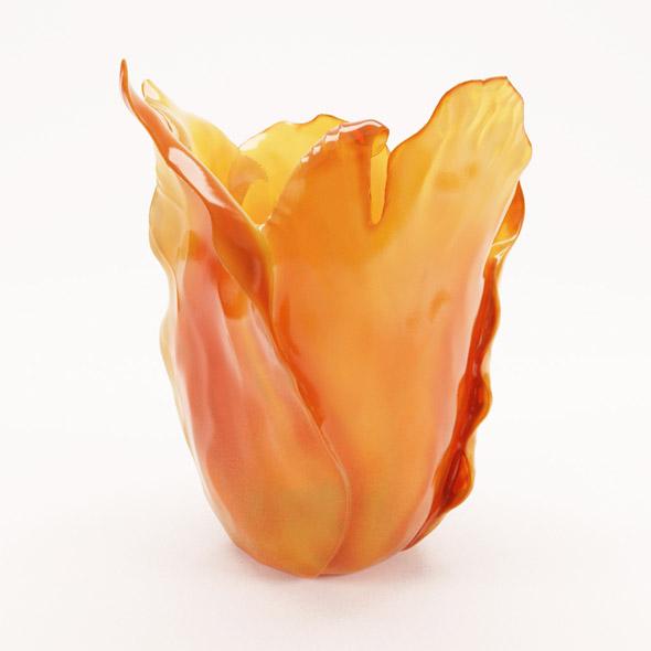 3DOcean Daum Amber Tulip vase 15970525