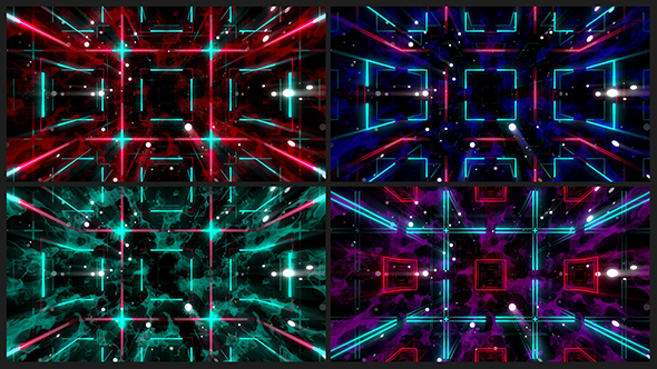 Neon kuutiot VJ Pack I - Abstract Taustat Motion Graphics