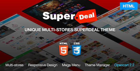 Super Deal - MultiPurpose eCommerce HTML5 Template