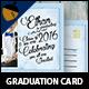 Vintage Lettering Graduation Postcard