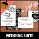 Vintage Floral Wedding Invitation Suite
