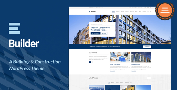 Download Builder - Building & Construction WordPress Theme nulled download