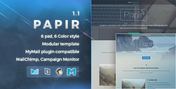 Papir | Responsive Email Template