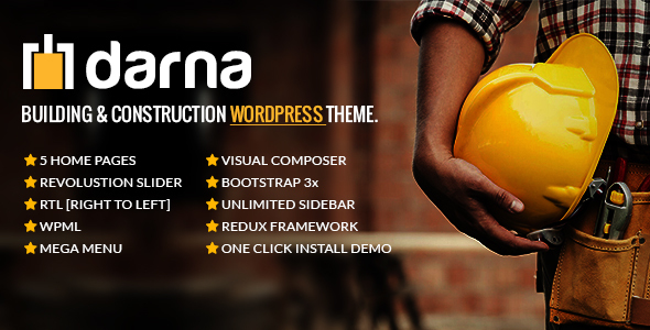 Download Darna – Building & Construction WordPress Theme nulled download