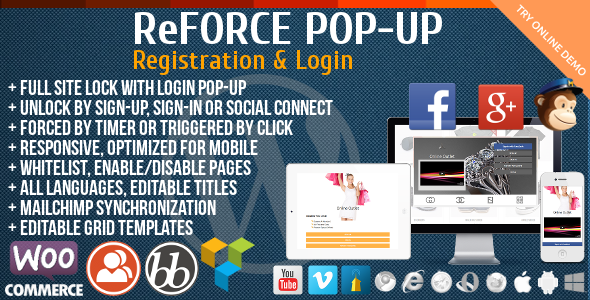 Download ReForce - User Registration Pop-Up nulled download