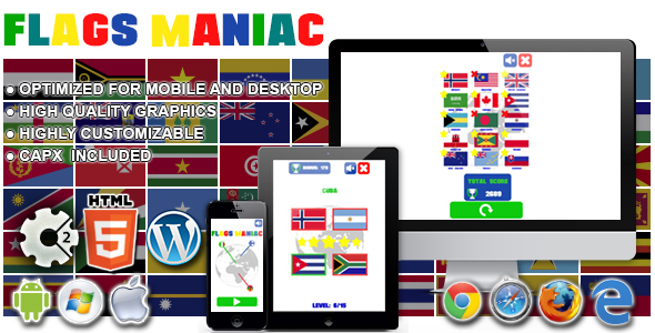 Download Flags Maniac - HTML5 Construct Game nulled download