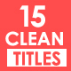 Clean Titles