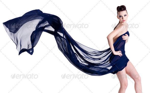 Elegance woman in chiffon - Stock Photo - Images