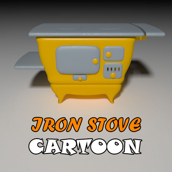 Iron Stove Cartoon - 3DOcean Item for Sale