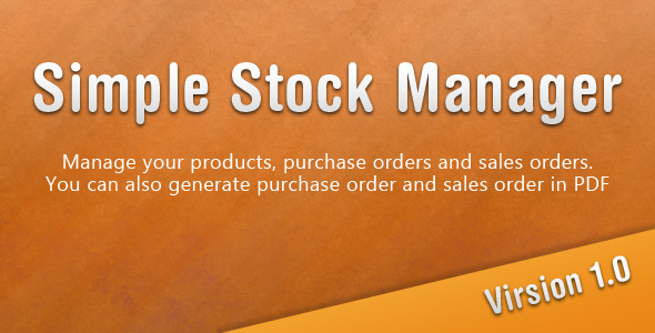 CodeCanyon Simple Stock Manager 1600366