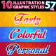 10 Illustrator Graphic Styles Vol.57