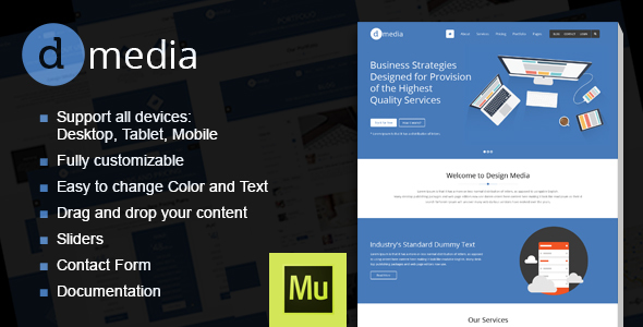 dMedia - Creative Multipurpose Muse Template