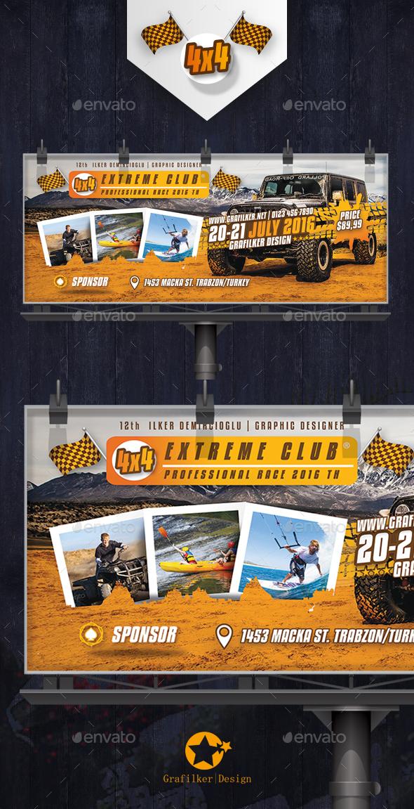 Extreme Sport Billboard Templates