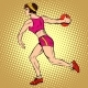 Girl Discus Thrower Athletics Summer Sports Games