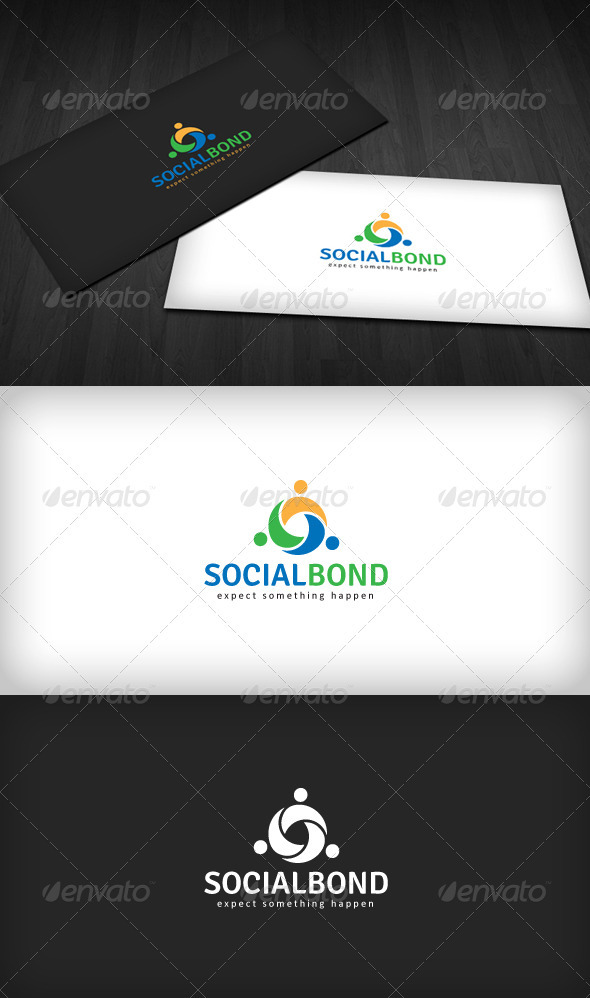 Social Bond Logo - Humans Logo Templates