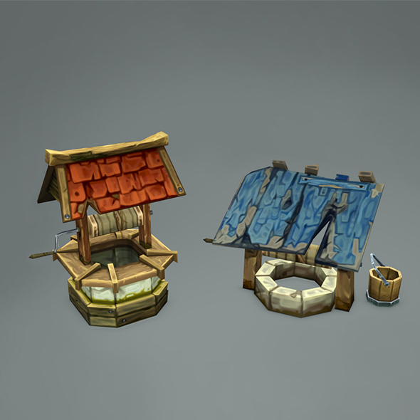 3DOcean Old Wells HandPainted 15988805