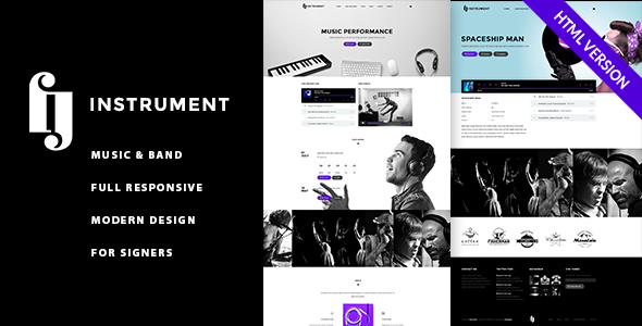 Instrument - Musicians, Singers, Bands HTML