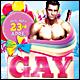 Gay Birthday Poster/Flyer