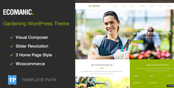 Ecomanic - Gardening, Lawn Care and Landscaping WordPress Theme