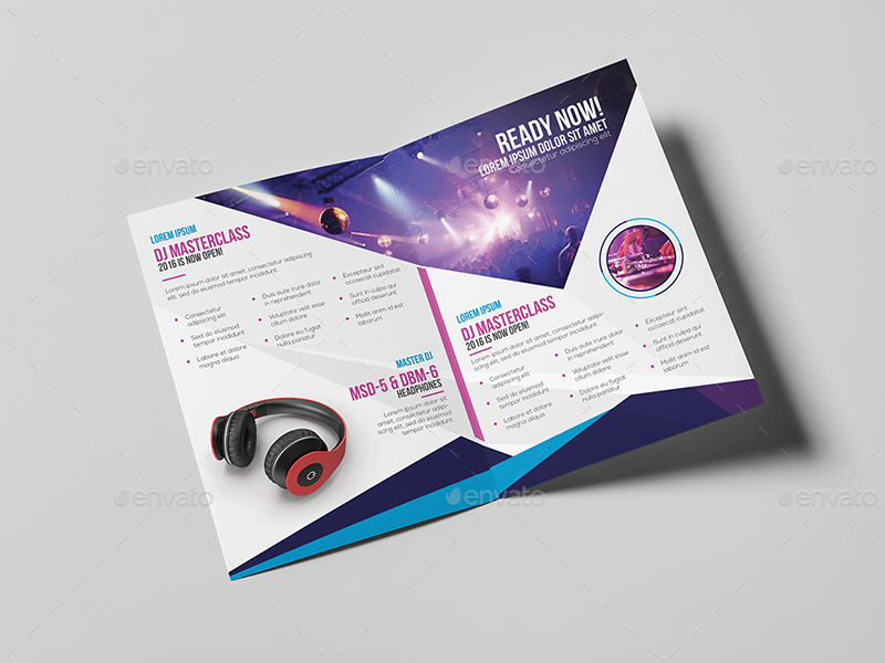 Dj a5 brochure template by wutip2 graphicriver for A5 brochure template