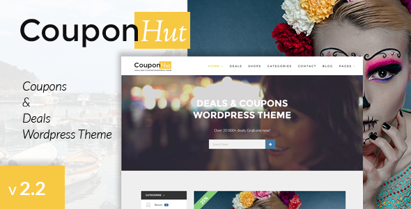 15 - CouponHut - Coupons & Deals WordPress Theme