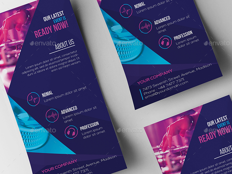 DJ Rack Card and Business Card Template by wutip2 – Rack Card Template