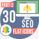 30 Seo & Web Development Flat Icons 3