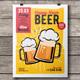 Happy Hour Beer Flyer-Poster Template