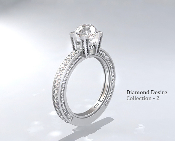 Diamond Ring 3 - 3DOcean Item for Sale