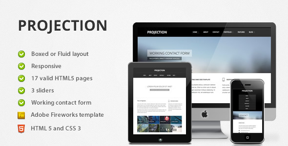 ThemeForest Projection Responsive HTML5 Template 1601673