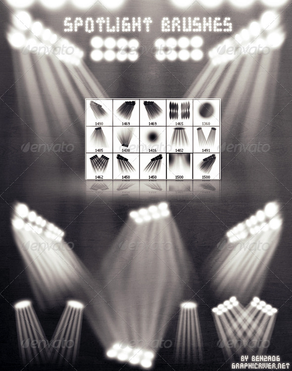GraphicRiver Spotlight Brushes 1601716