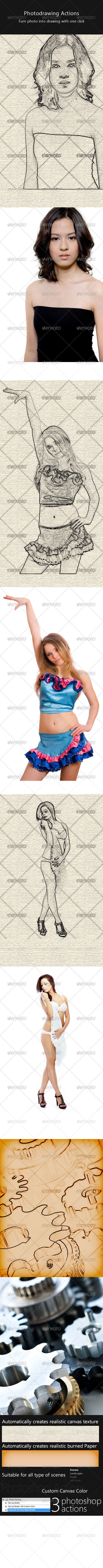 GraphicRiver Photo Drawing Action Pack 222875