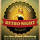 Retro Night Flyer - GraphicRiver Item for Sale