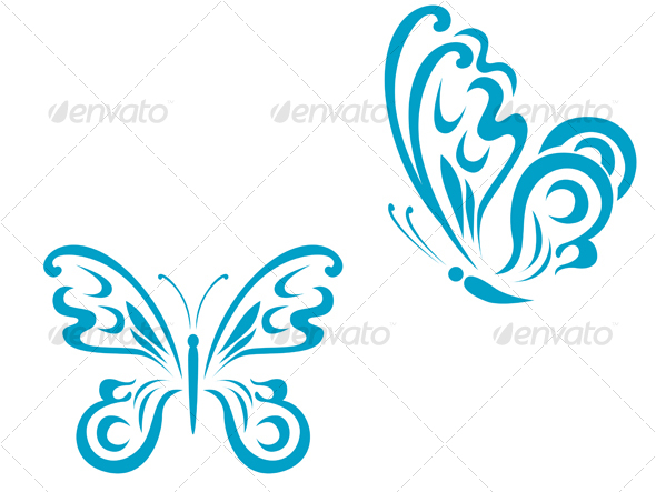 GraphicRiver Butterfly tattoo 62698