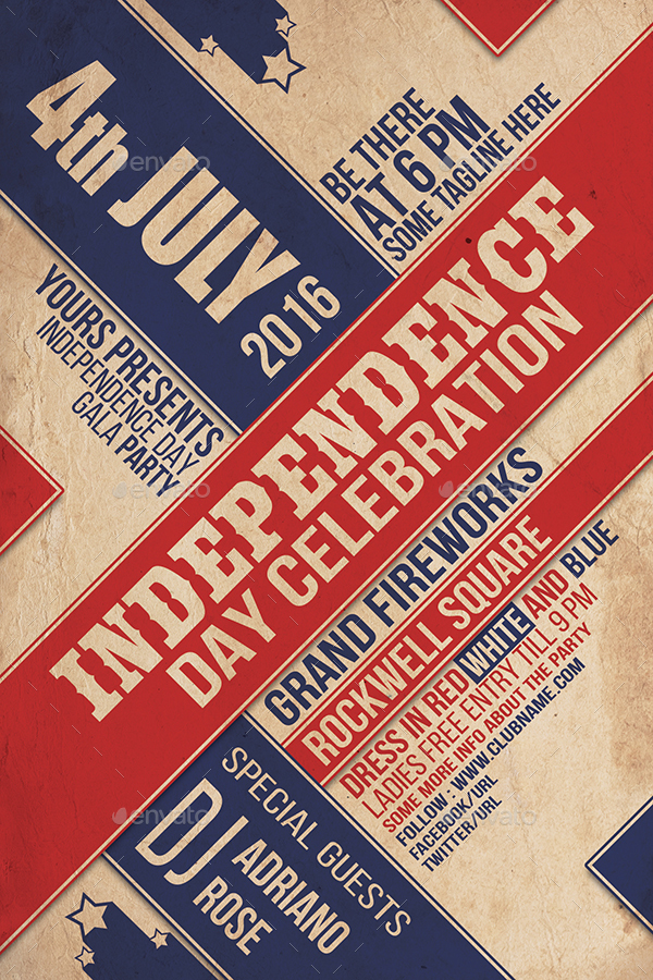 4th July Typography Flyer ver3 by IndWorks – Typography Flyer