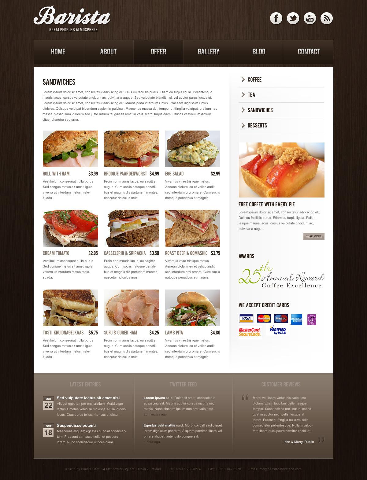 Barista - HTML Theme