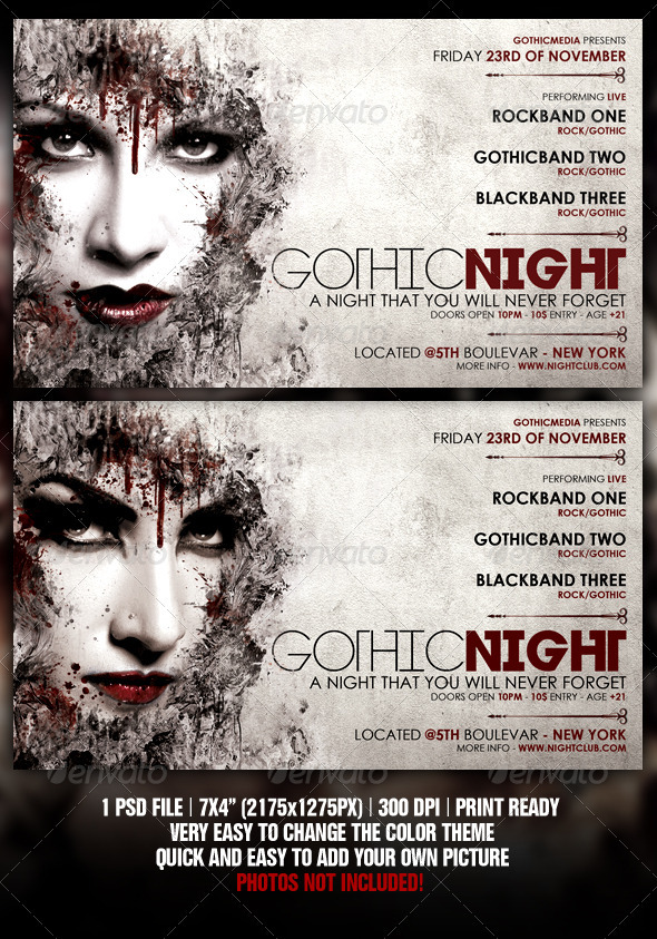 GraphicRiver Rock Party Flyer 1589134