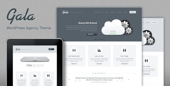 Gala, a Tasty Mac-inspired Agency WordPress Theme
