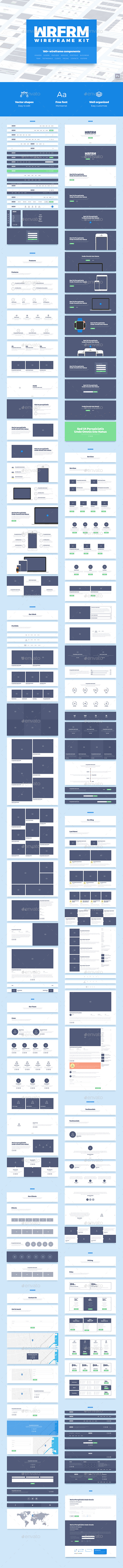 WRFRM – Wireframe Kit (User Interfaces)