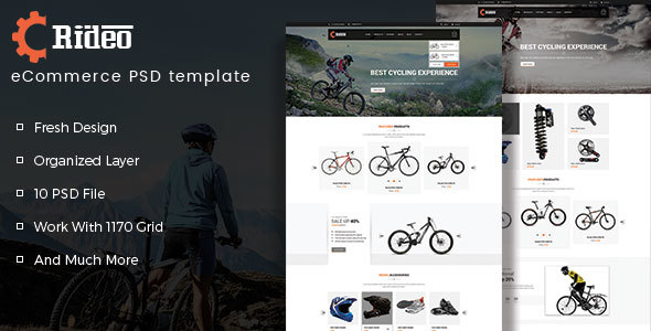 Rideo eCommerce PSD Template