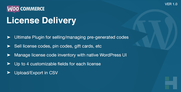 WooCommerce License Delivery & Managment - CodeCanyon Item for Sale