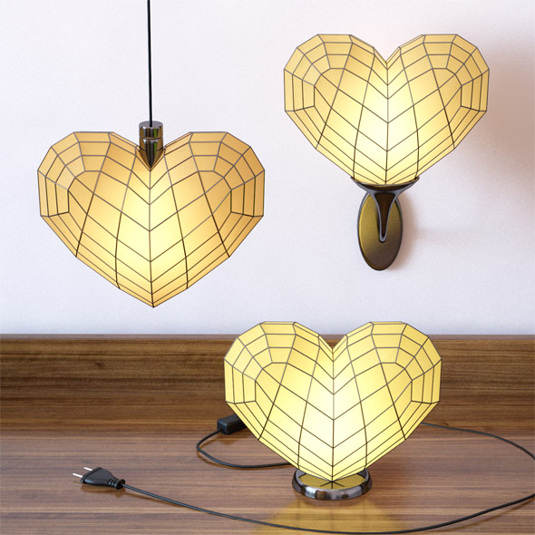 Heart light set - 3DOcean Item for Sale
