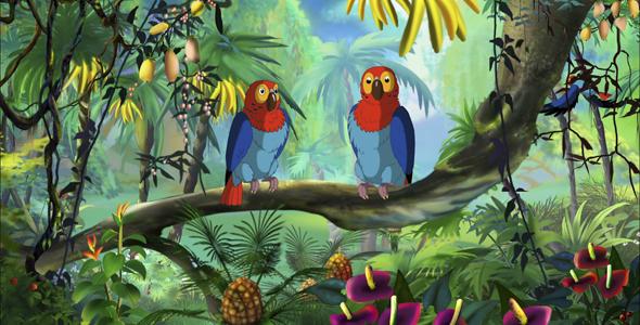 Ara Parrot HD - Taustat Luonnosta Motion Graphics