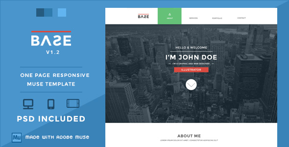Base - One Page Responsive Muse Theme