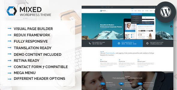 Mixed - Modern and Professional WordPress Theme