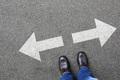 Decision decide business man concept businessman goals success solution job work