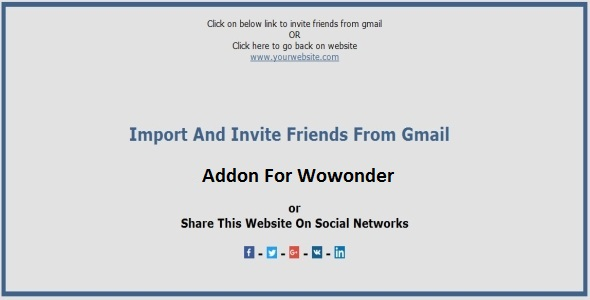 Import and Invite Gmail Contacts Addon For Wowonder